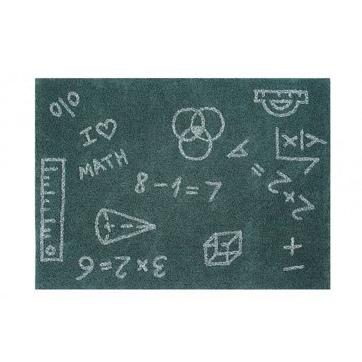 Tapis lavable I love Math - 140x200 cm