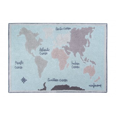 Tapis lavable Vintage map - 140x200 cm