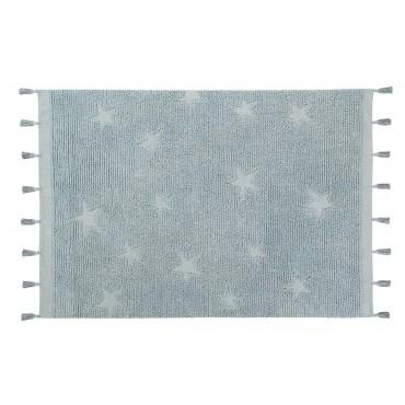 Tapis Hippy Stars 120 x 175 cm - Aqua Blue