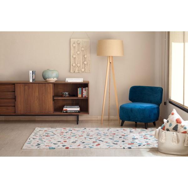 Tapis lavable Terrazzo Marble - 140x200 cm