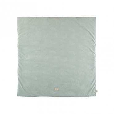 Tapis carré Colorado 100 x 100 cm - White Bubble/Aqua