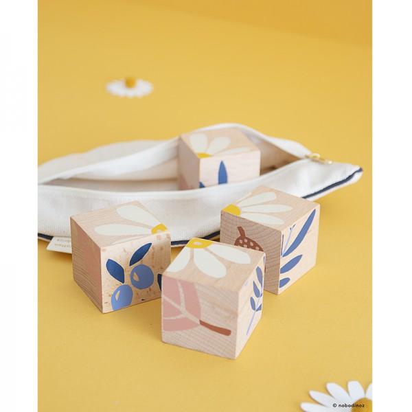 Cube puzzle en bois - Plantes