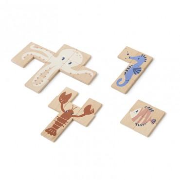 Jeu de puzzle en bois - Animaux marins