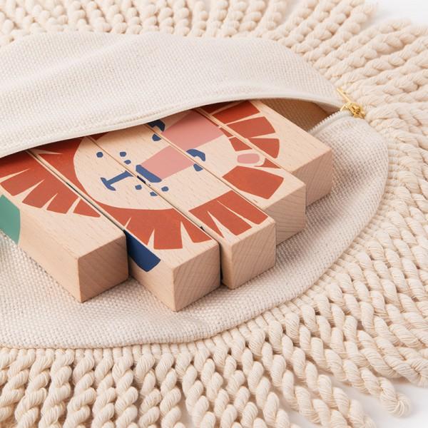 Puzzle baguettes en bois - Animaux sauvages