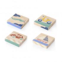 Puzzle baguettes en bois - Transport