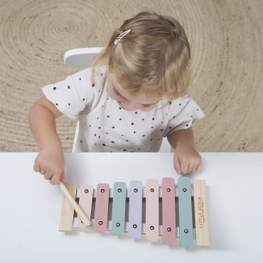 Xylophone en bois - Rose