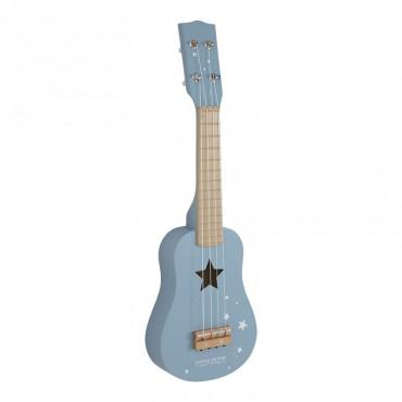 Guitare en bois - Bleu