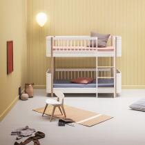 Lit superposé Wood Mini + en Blanc et chêne
