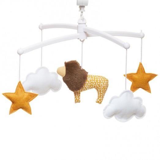 Mobile musical bébé - Lion jaune