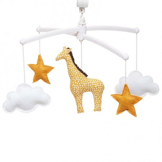 Mobile musical bébé - Girafe jaune