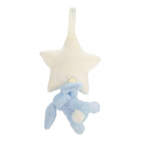 Boite à musique étoile lapin - Bleu