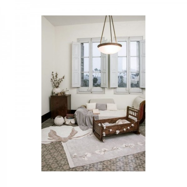Tapis lavable Cotton balls - 120x170 cm