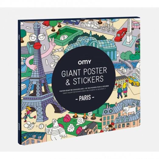 Poster géant et stickers - Paris