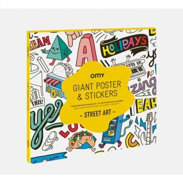 Poster géant et stickers - Street art