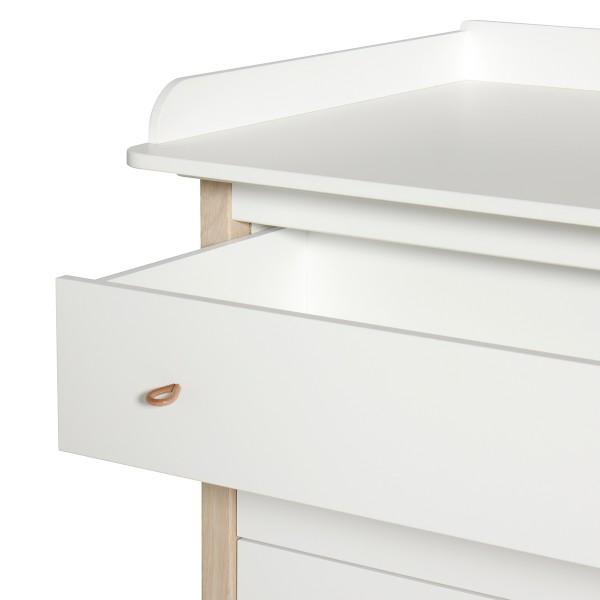 Commode 4 tiroirs Wood avec plan à langer