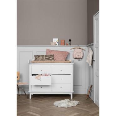Commode 6 tiroirs Wood en Blanc