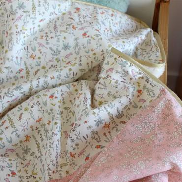 Couverture bébé en Liberty - Olga