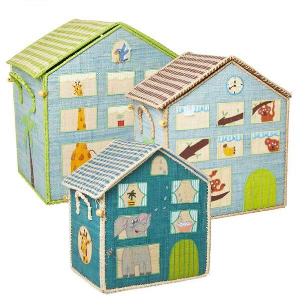 Coffre à jouets en raphia PM - Jungle House