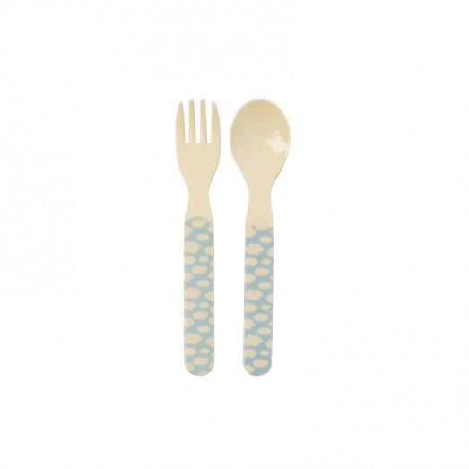 Set cuillère et fourchette mélamine - Cloud