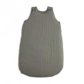 Gigoteuse en coton bio - Lange uni gris