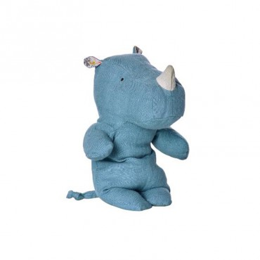 Peluche Safari Friends - Rhino small, Bleu