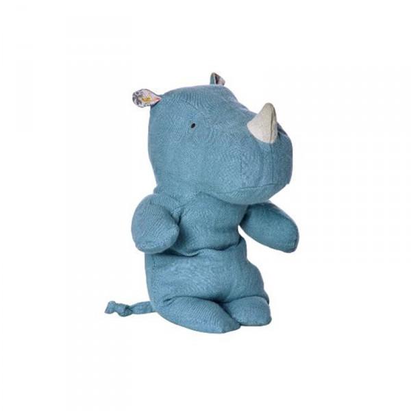 Peluche Safari Friends - Rhino small, Bleu