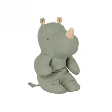 Peluche Safari Friends - Rhino small, Vert amande