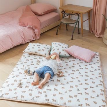 Tapis d'éveil 120 x 120 cm HONORE - Tigre sable
