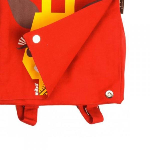 Petit cartable en coton bio - Girafe rouge