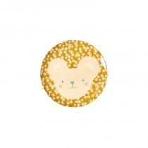 Petite assiette imprimée mélamine - Animal Teddy Petites fleurs
