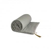 Couverture d'été coton bio 80 x 110 cm - Gris silver