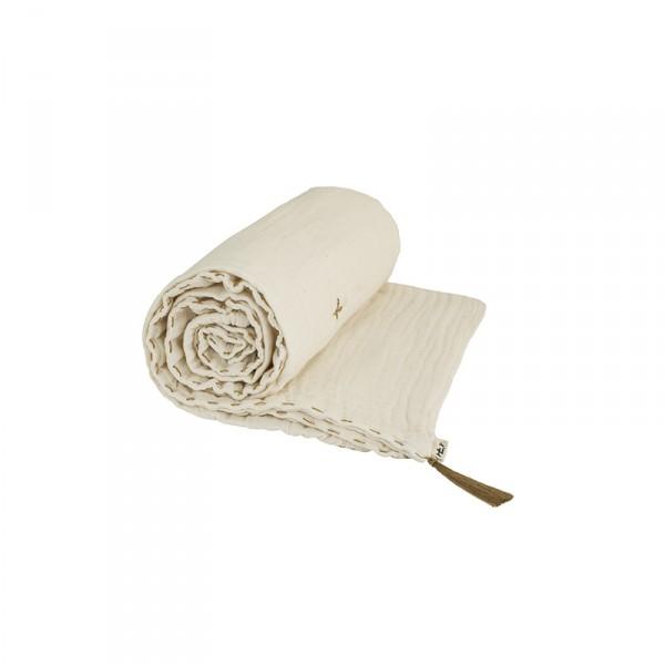 Couverture d'été coton bio 110 x 160 cm - Blanc crème
