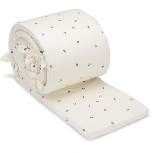 Tour de lit en coton bio - Cerise