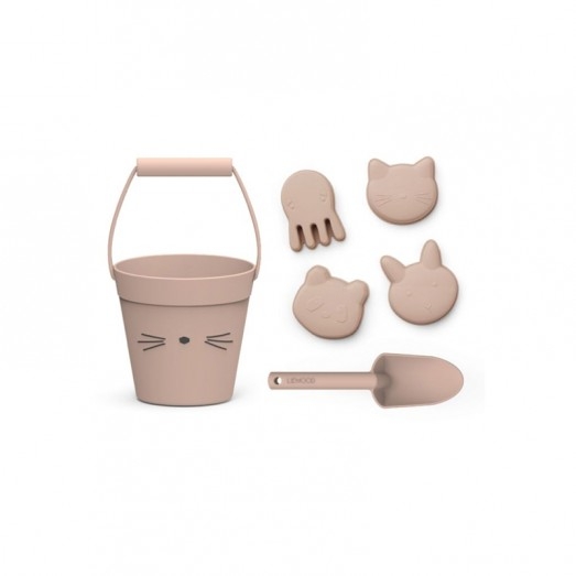 Set de plage en silicone Dante - Chat rose