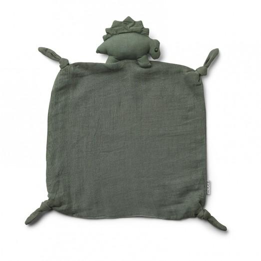 Doudou carré Agnete - Dino faune green