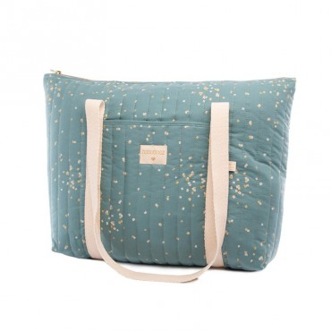 Sac à langer Paris - Gold confetti Magic green