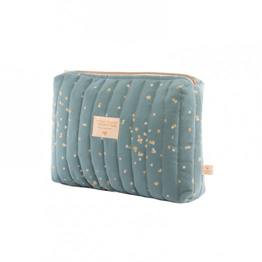 Trousse de toilette Travel - Gold confetti/Magic green