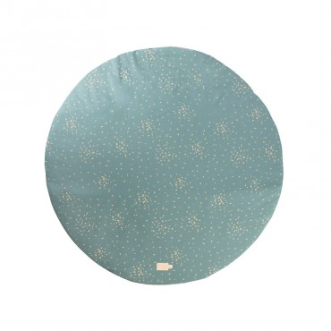 Tapis rond Full Moon 105 cm - Gold confetti/Magic green