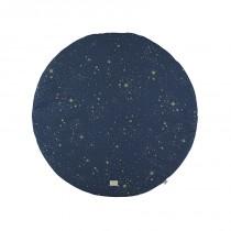 Tapis rond Full Moon - Gold stella / Night blue