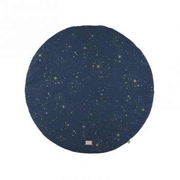 Tapis rond Full Moon - Gold stella / Night blue