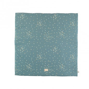 Tapis carré Colorado 100 x 100 cm - Gold confetti/Magic green