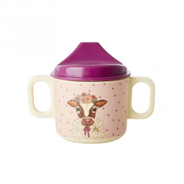 Tasse d'apprentissage - Farm Animals rose
