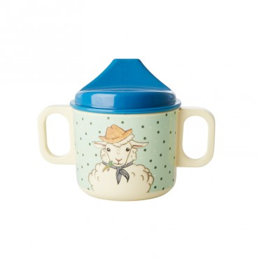 Tasse d'apprentissage - Farm Animals vert