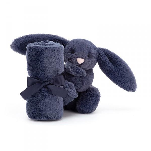 Doudou lapin - Bashful soother bleu marine