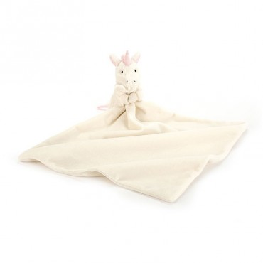 Doudou licorne - Bashful soother blanc et rose