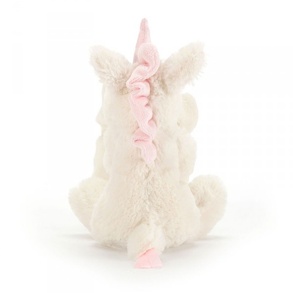 Doudou licorne - Bashful soother blanc et rose