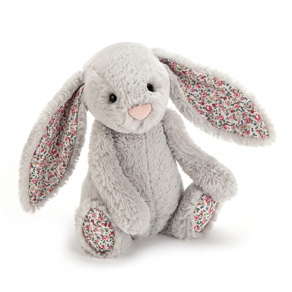 Peluche lapin liberty - Bashful blossom gris argent