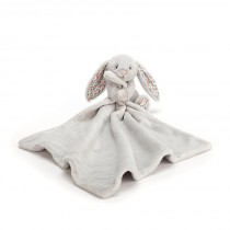 Doudou lapin - Bashful soother blossom gris argent