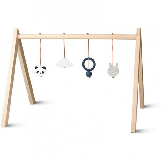 Arche d'activités en bois - Bleu