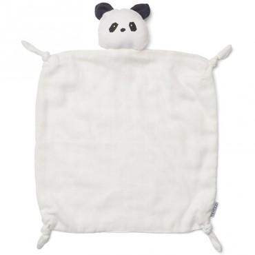 Doudou carré Agnete - Panda crême de la crême